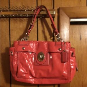 Coach patent leather handbag